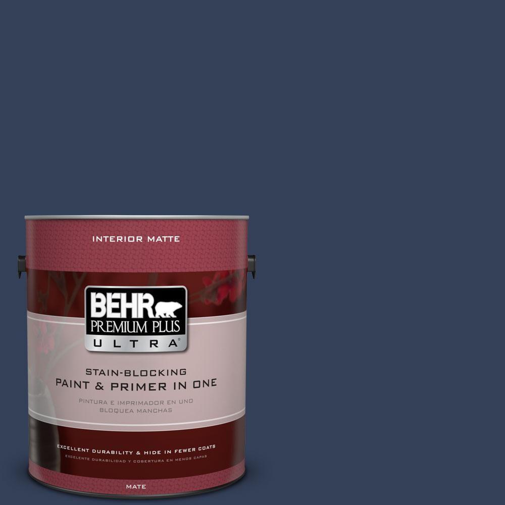BEHR Premium Plus Ultra 1 gal. #600F-7 Soulful Music Flat/Matte Interior Paint