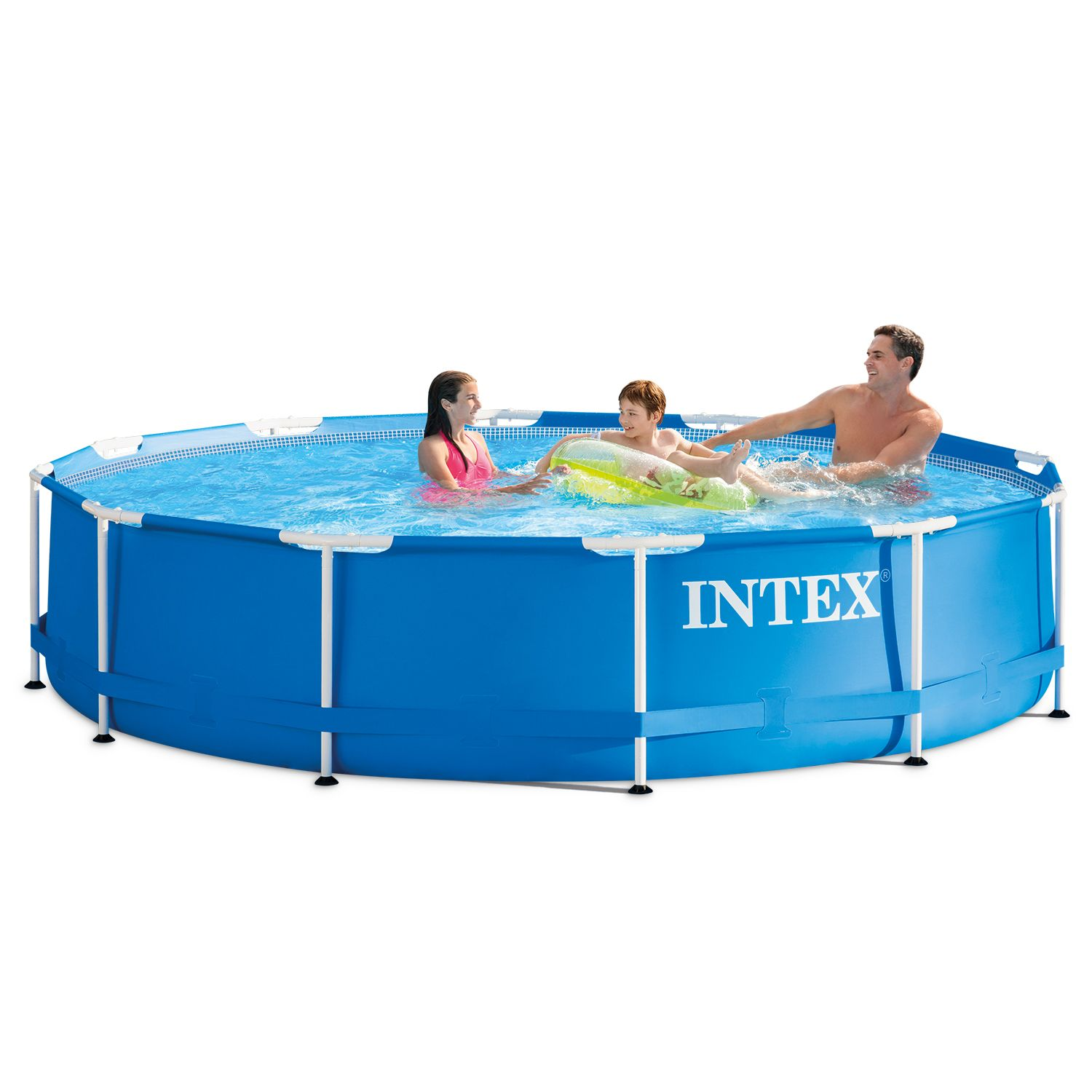 Intex 12 X 30 Metal Frame Above Ground Swimming Pool With Filter Pump Walmart Com Above Ground Swimming Pools Swimming Pools Swimming Pool Ladders