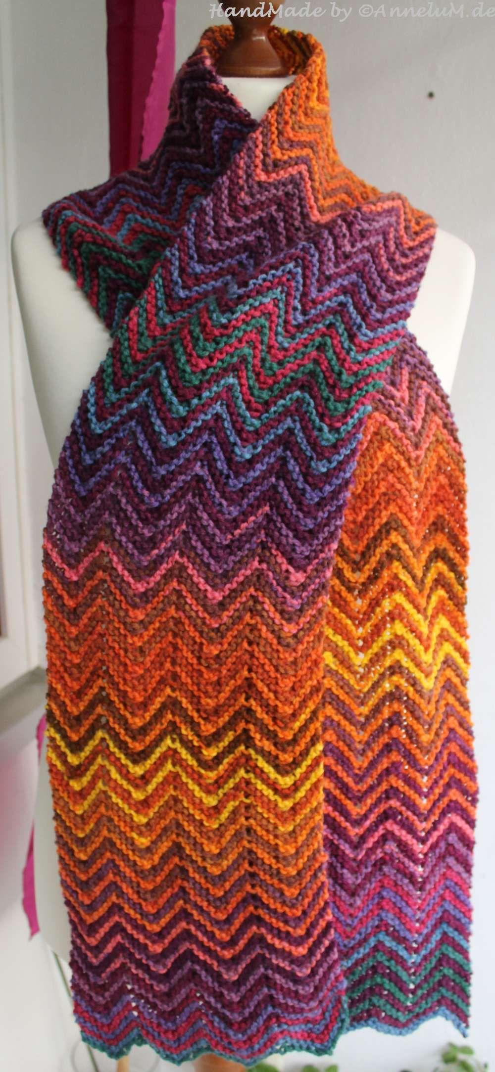 Zickzack Schal Handmade By Annelumde