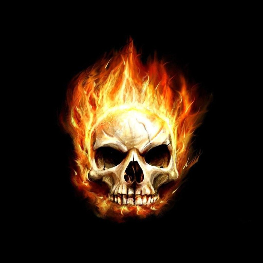 Fire Hd Desktop Skull Wallpaper