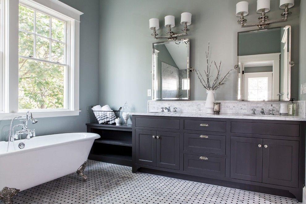 Black Bathroom Vanity Craftsman With San Jose Novelty Print Shower