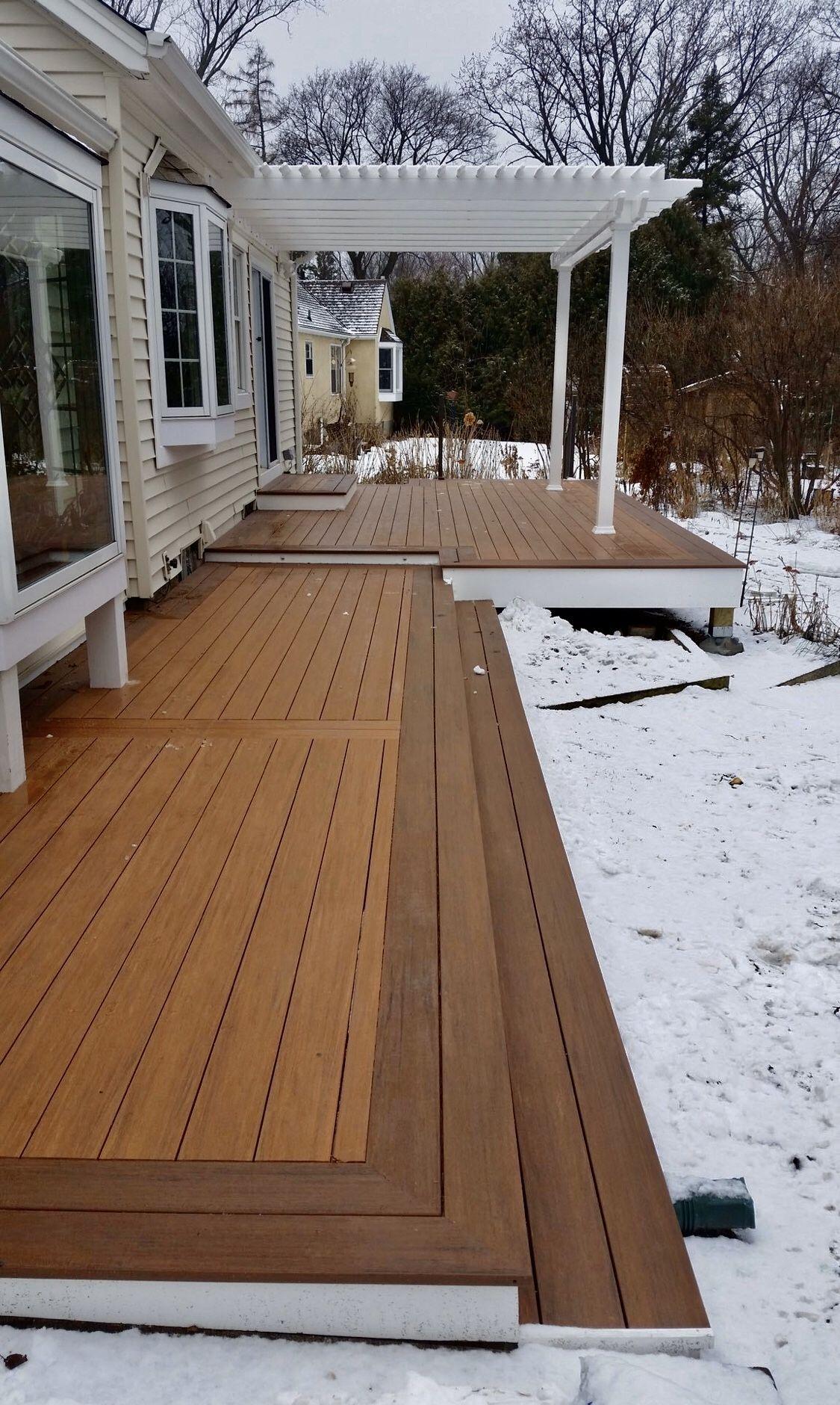 Maintenance free deck timbertech decking with heartland