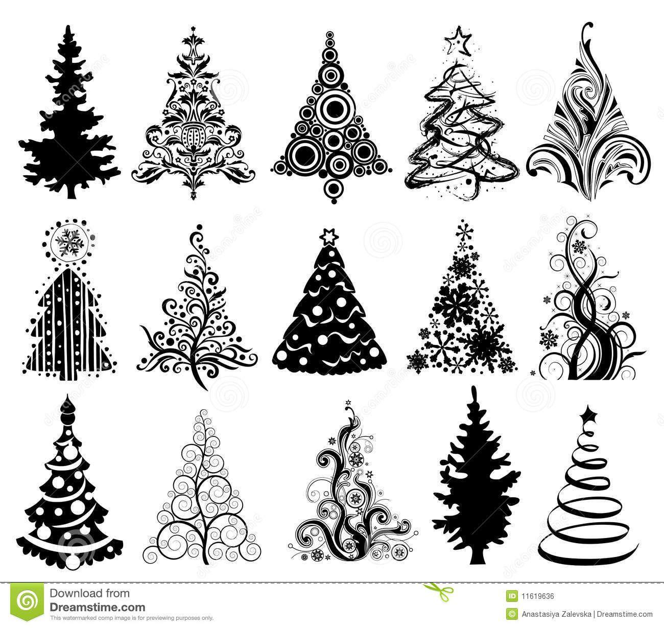 Immagini Natalizie Vettoriali.Alberi Di Natale Illustrazione Vettoriale Immagine Di Elementi