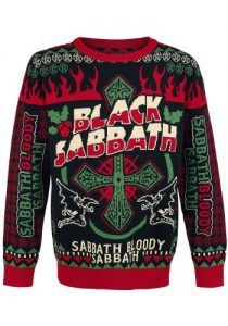 Black Sabbath Christmas Holiday Sweater Black Holiday Sweater