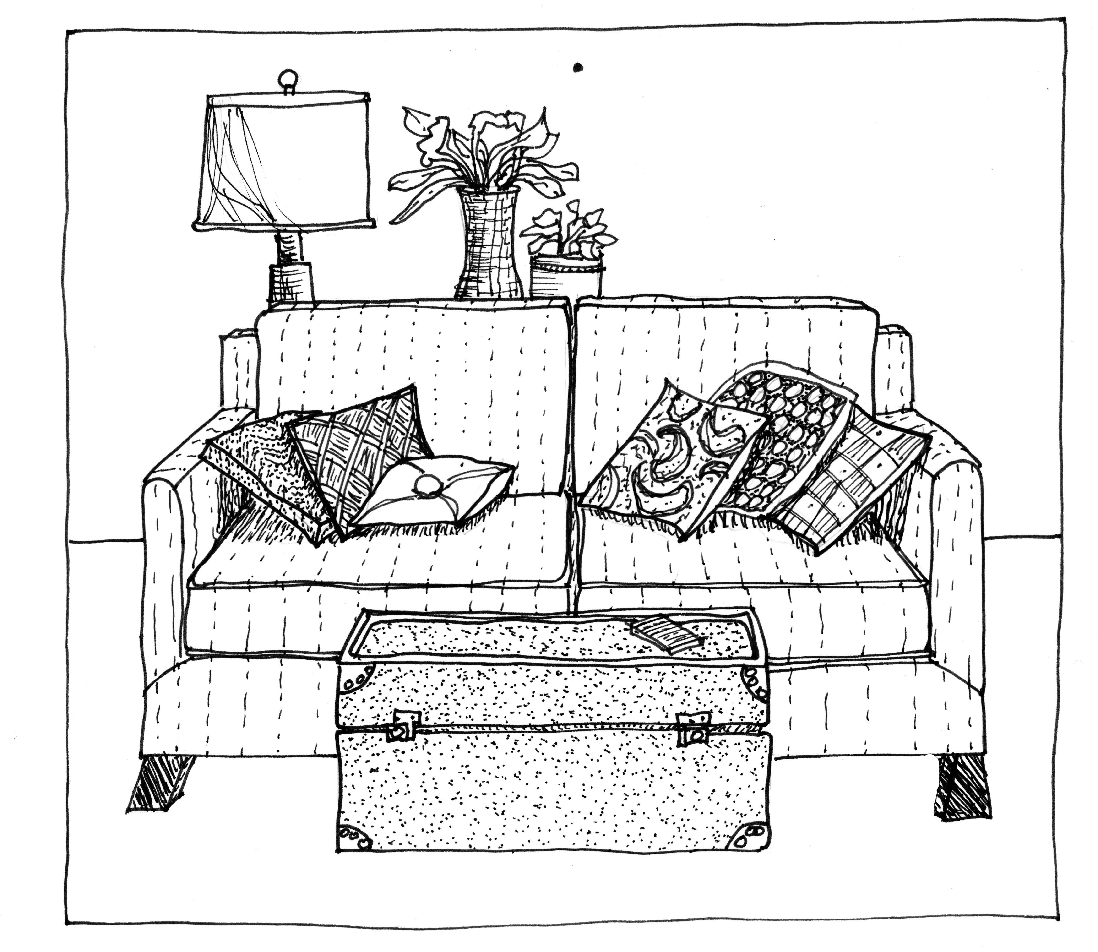 Sofa Drawing