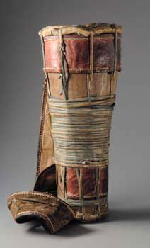 "Africa | Drum ""bata"" from the Yoruba people of Nigeria 