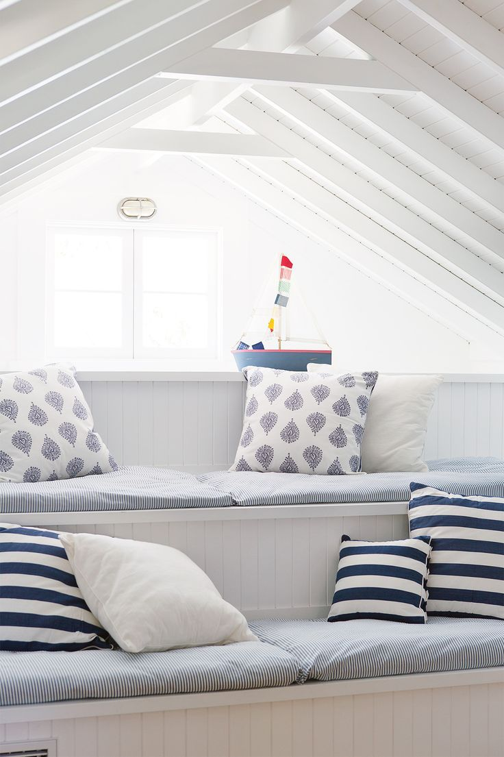 Built in bench seating with storage make for  clever kids retreat hamptons style home photography simon whitbread styling maria also decorating ideas family  pinterest rh