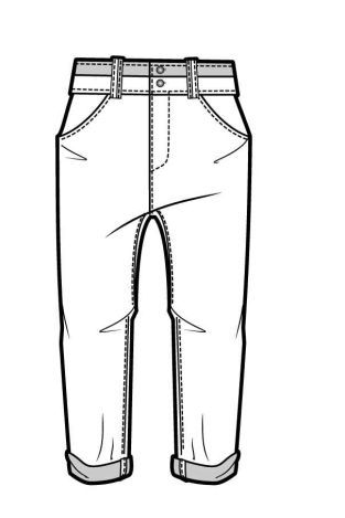 long pants coloring pages - photo#8