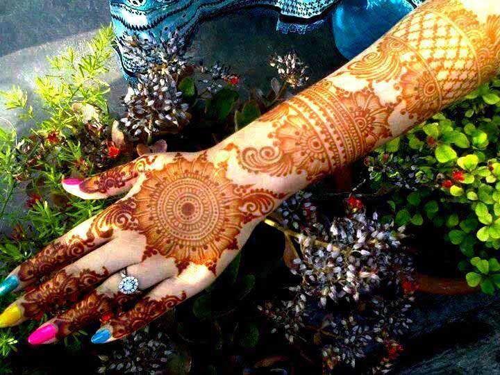 Bridal Mehndi Full Hand Designs : Best arabic bridal henna designs for full hand aribic