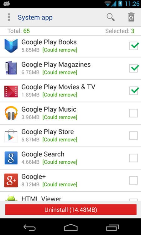 System app remover (ROOT), Android market best android apps