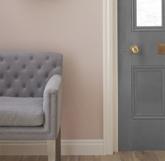 Grey Color To Complement Periwinkle Paint Accent Wall: I Love Using Light Grey To Create A Peaceful, Calming