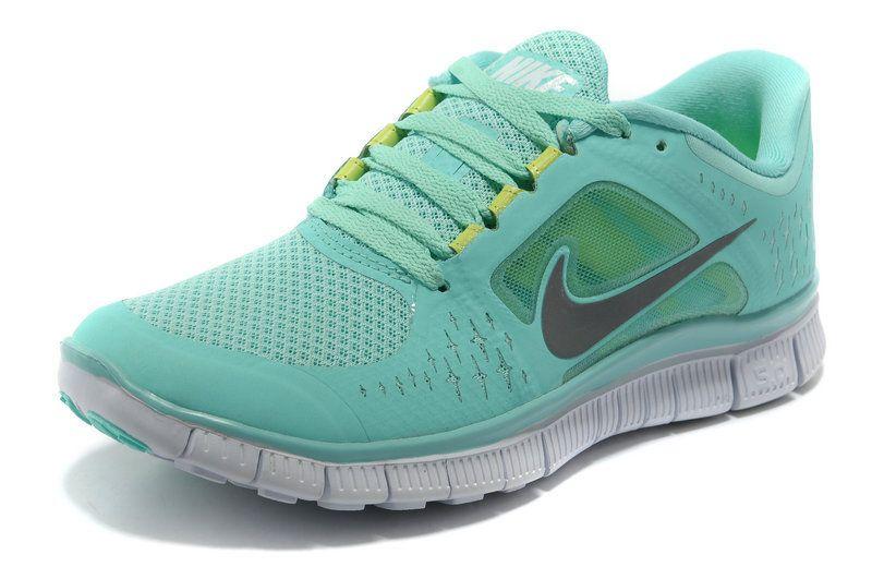 neon blue nike free runs
