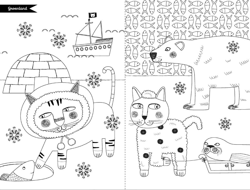 Le groenland les chats du monde colorier d 39 emilie lapeyre editions graine2 - Chat a colorier ...