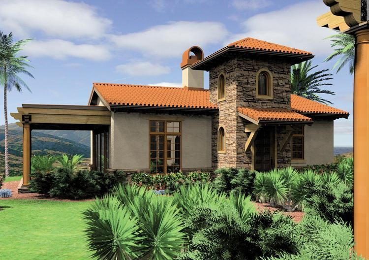 House Plan 2559 00102 Southwestern Plan 972 Square Feet 1 Bedroom 1 Bathroom Mediterranean Style House Plans Coastal House Plans Mediterranean House Plans