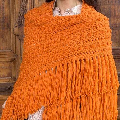 Popcorn Shawl - Free Pattern (Beautiful Skills - Crochet Knitting ...