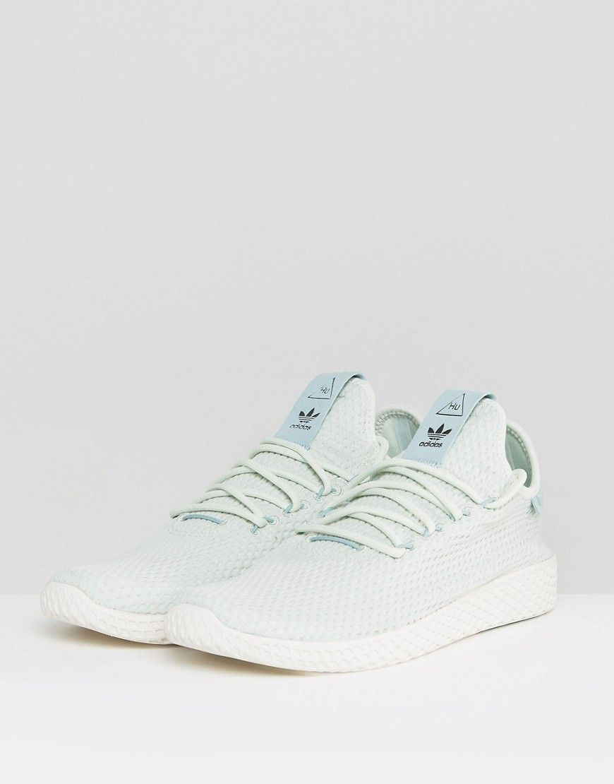 1ab309e3b adidas Originals x Pharrell Williams Tennis HU Sneakers In Green CP976