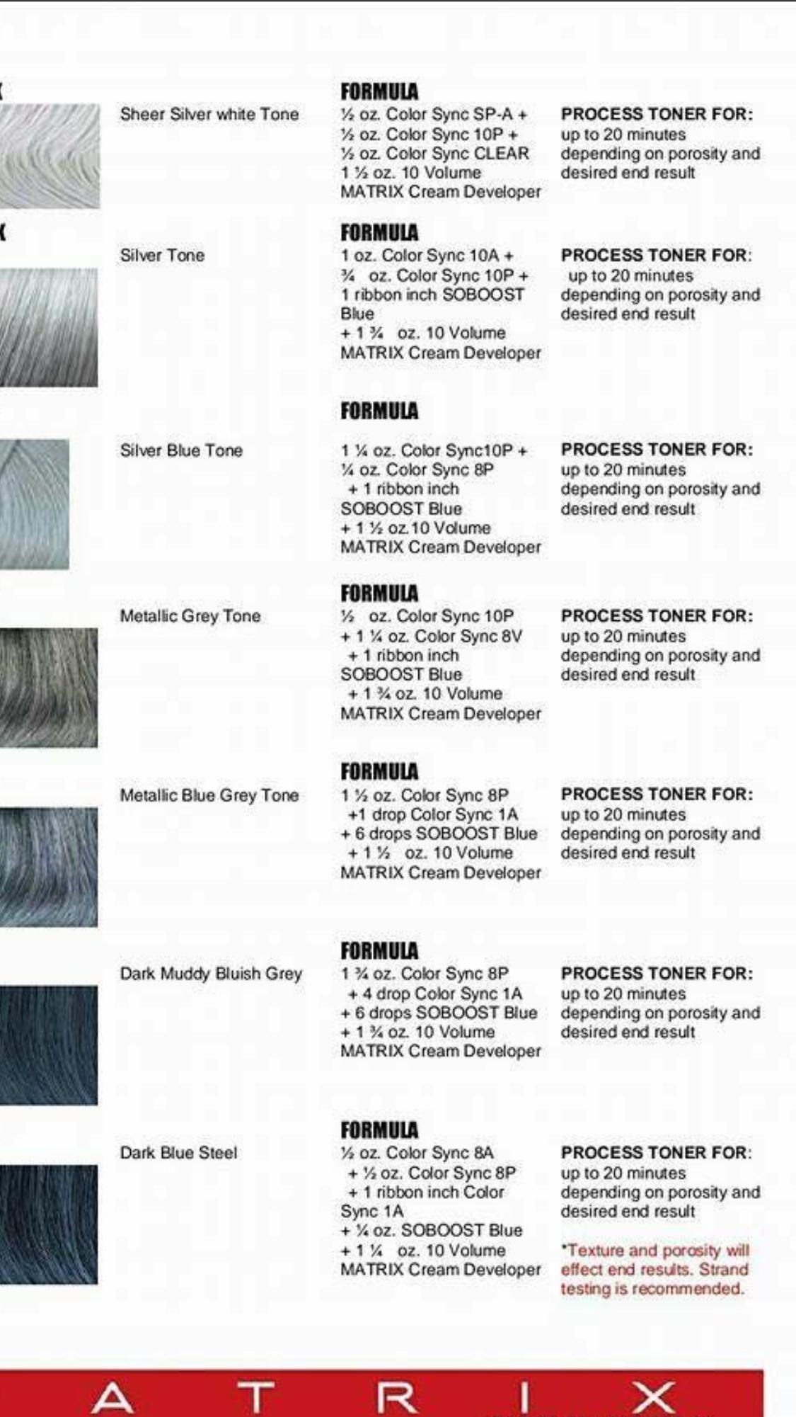 Matrix Hair Color Formulas Matrix Hair Color Hair Color Techniques