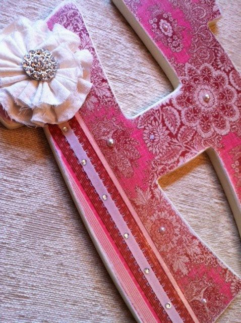 Custom Wooden Letters- Personalized Name- Shabby Chic- Painted