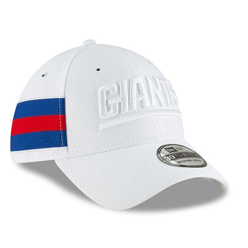designer fashion a79af 74c32 New York Giants New Era 2018 NFL Sideline Color Rush Official 39THIRTY Flex  Hat – White