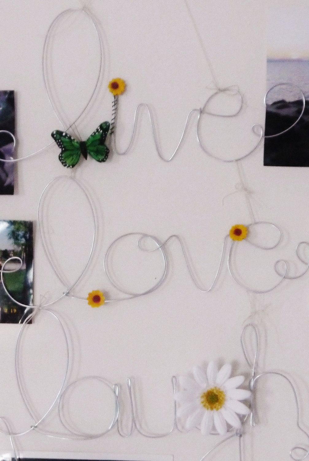 Live, Love, Laugh Muti Wire Word Hanging Photo Holder, Picture Frame ...