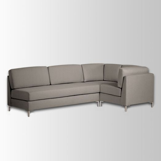 West Elm Armless Sectional (Brushed Heathered Cotton in Dove Grey) : west elm armless sectional - Sectionals, Sofas & Couches