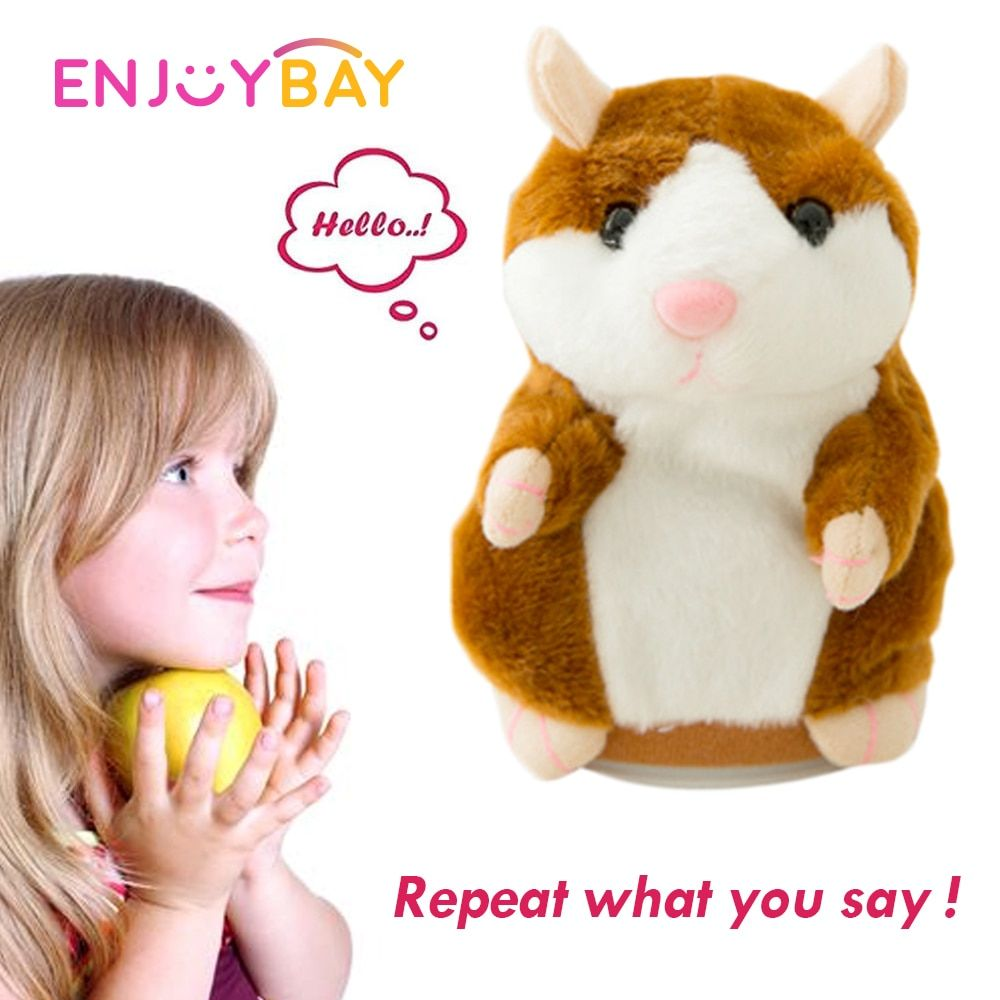 Cute Talking Hamster Mimicry Pet Plush Toy Kids Speak Talking Sound Repeat Toy