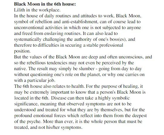 Black Moon Lilith in the 6th house | The Astrology of Lilith | Black