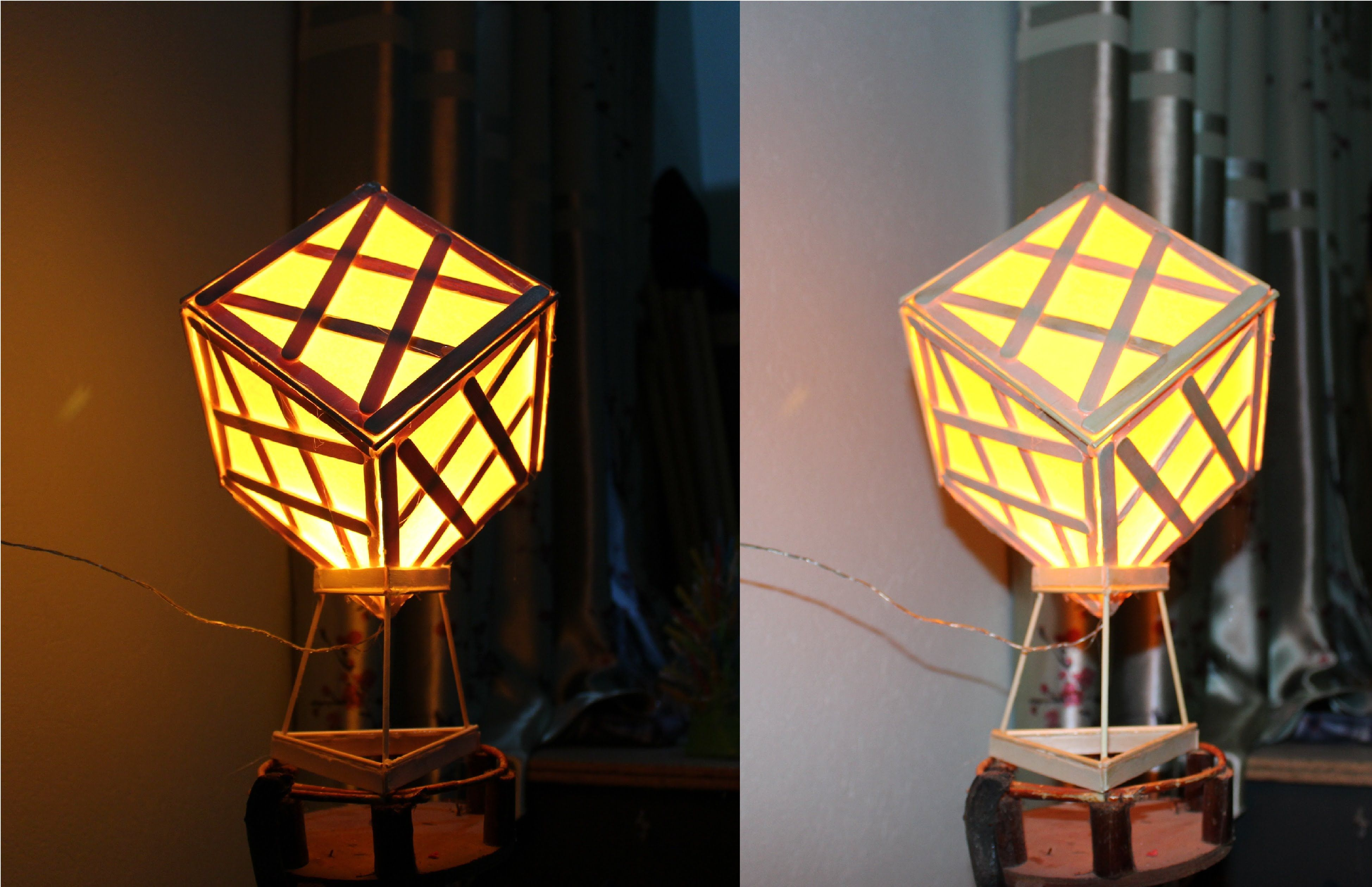 How To Make A Lamp Using Popsicle Sticks Make A Lamp How To Make A Chandelier Creative Lamps