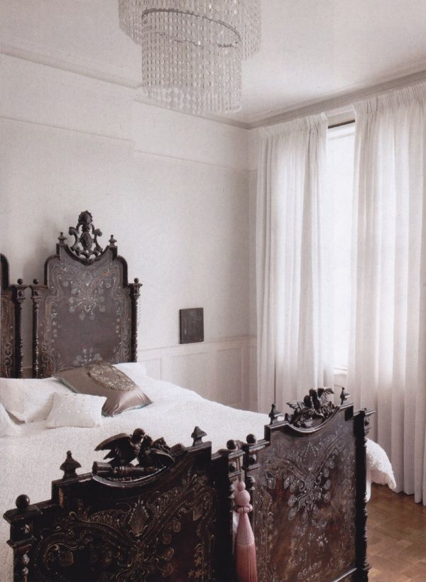 FABULOUS! Pair of hand carved beds, Black Forest, put together as a ...