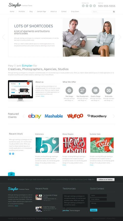 Simpler Minimalist WordPress Theme | Premium WordPress Themes ...