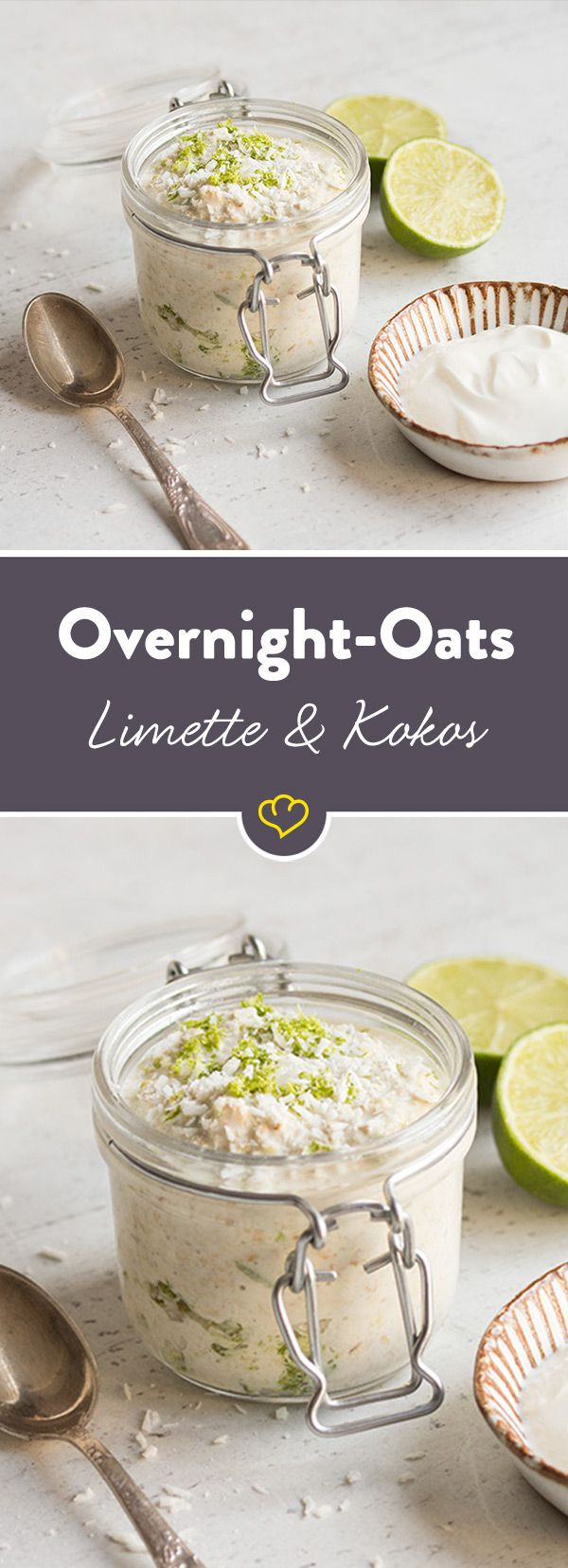Photo of Overnight oats with lime and coconut