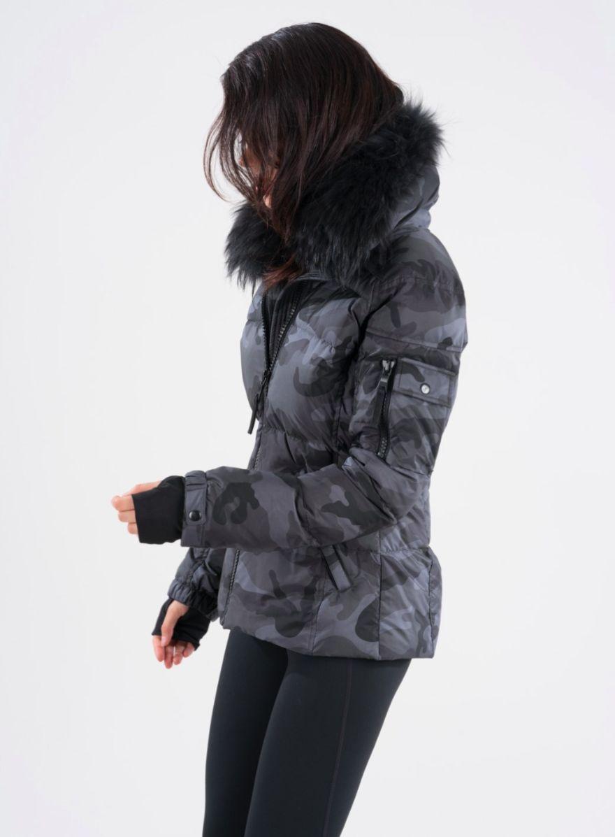 Sam New York Camo Fur Freestyle Jacket Luxury Outerwear Jackets Winter Fashion [ 1197 x 880 Pixel ]