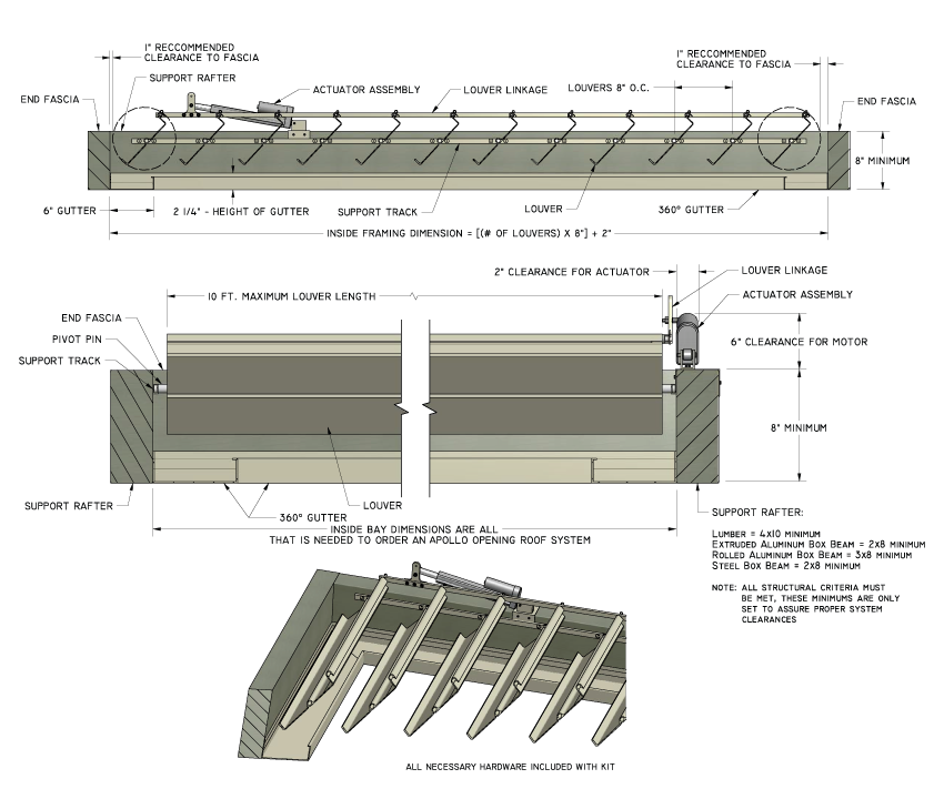 Apollo Opening Roof System Offers Adjustable Patio Cover Systems Made From  Wood, Aluminum, Metal