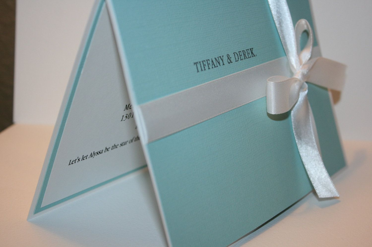 Tiffany u0026 Co Handmade Bridal Shower Invitation