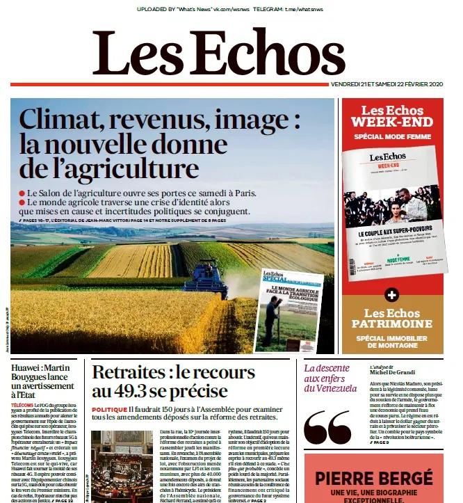 Les Echos 21 02 2020 Books Politics Lonely Planet