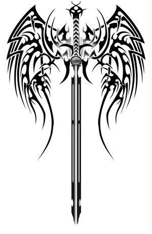 Dragon And Sword Tattoo By Drawn2ink On Deviantart Sword Tattoo Tattoos Tribal Dragon Tattoos