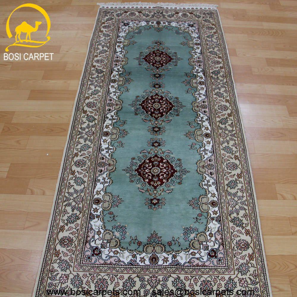 Hand knotted silk rug # Rug No.: P3092# Quality: 180L (225kpsi) # Size: 2.5x7ft (76x213cm) # Material: 100% Silk # wholesale Price: $612/piece # If you have any interests, please email to sales@bosicarpets... handmadesilkcarpet#handmaderug#silkrug#silkcarpet#carpet#persiancarpet#persianrugs#rug#handmaderug#handknottedrug#iranrug#chineserug#turkeyrug#turkishcarpets#silkcarpets#silk#floorrug#hali#ipekhai#redrug#bluecarpet#turleycarpet