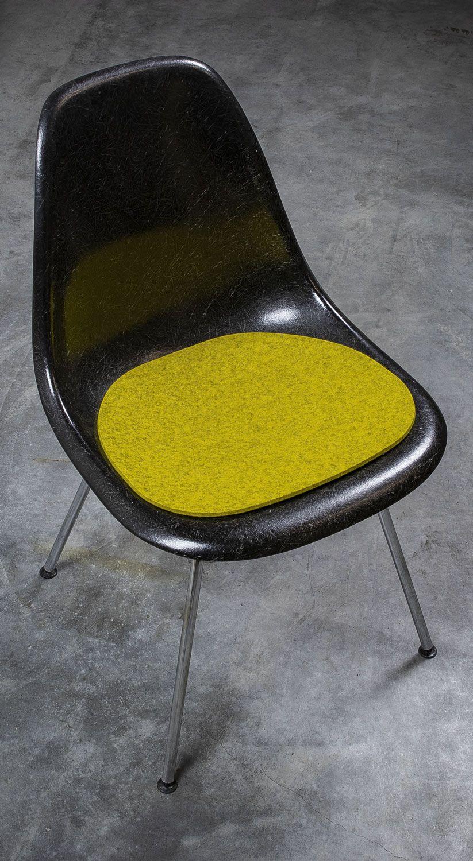 Filz Sitzauflage Passend Für Eames Chair Armchair Senfgelb Filzauflage Sitzkissen Filz Kissen Eames Sitzauflagen