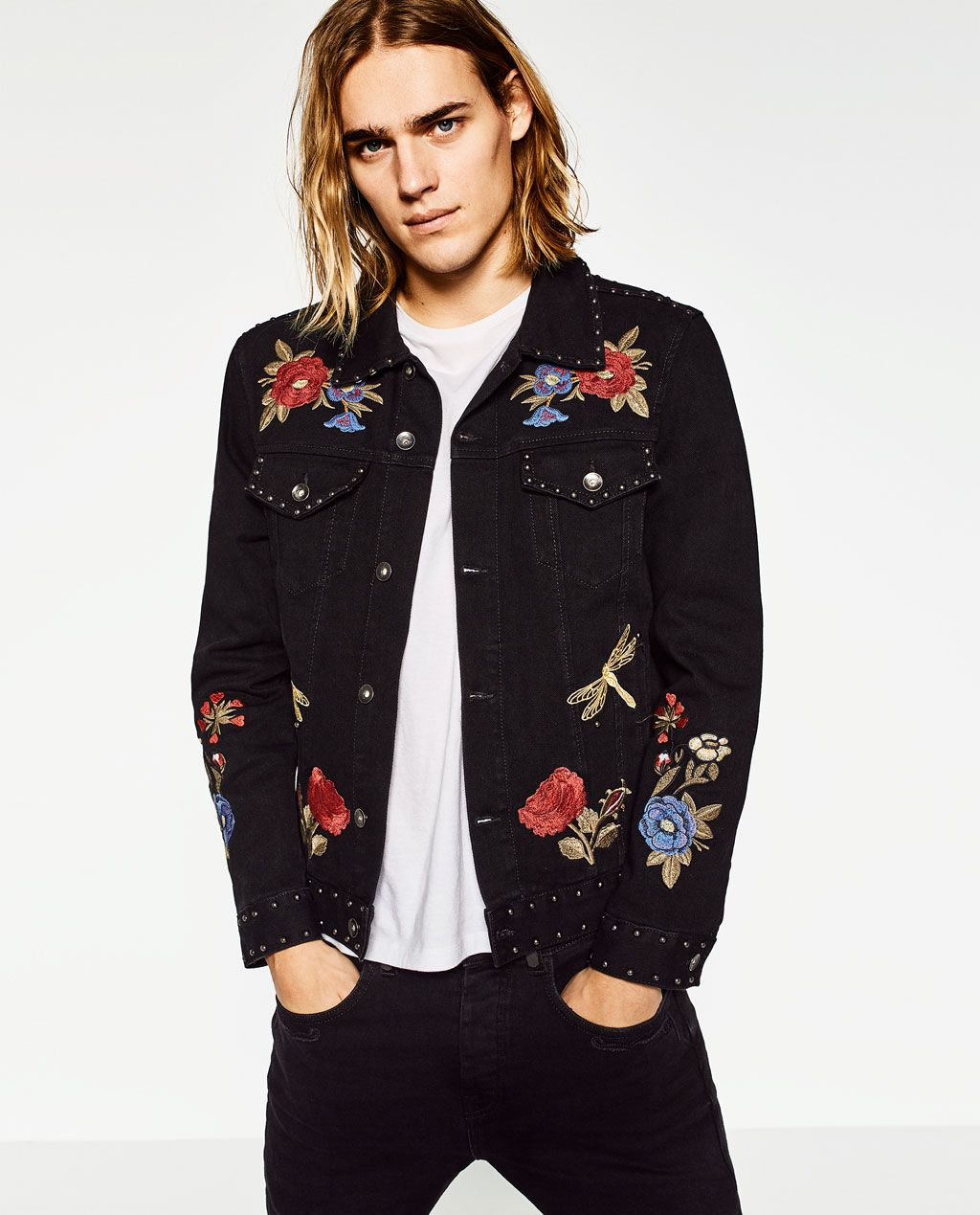 1952f0eb5751 Image 2 of EMBROIDERED DENIM JACKET from Zara