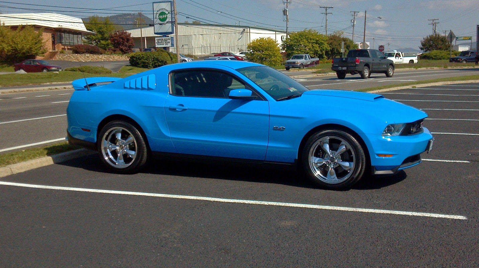 2011 grabber blue ford mustang gt 5 0