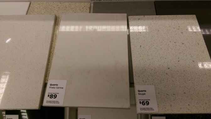 Ikea Quartz Countertops Frosty Carrina And Nougat