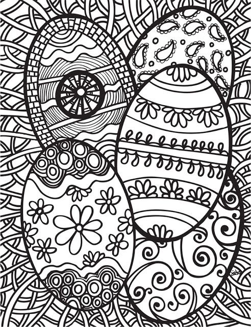 Decorating Easter Egg Coloring Pages Kids Picture Archives