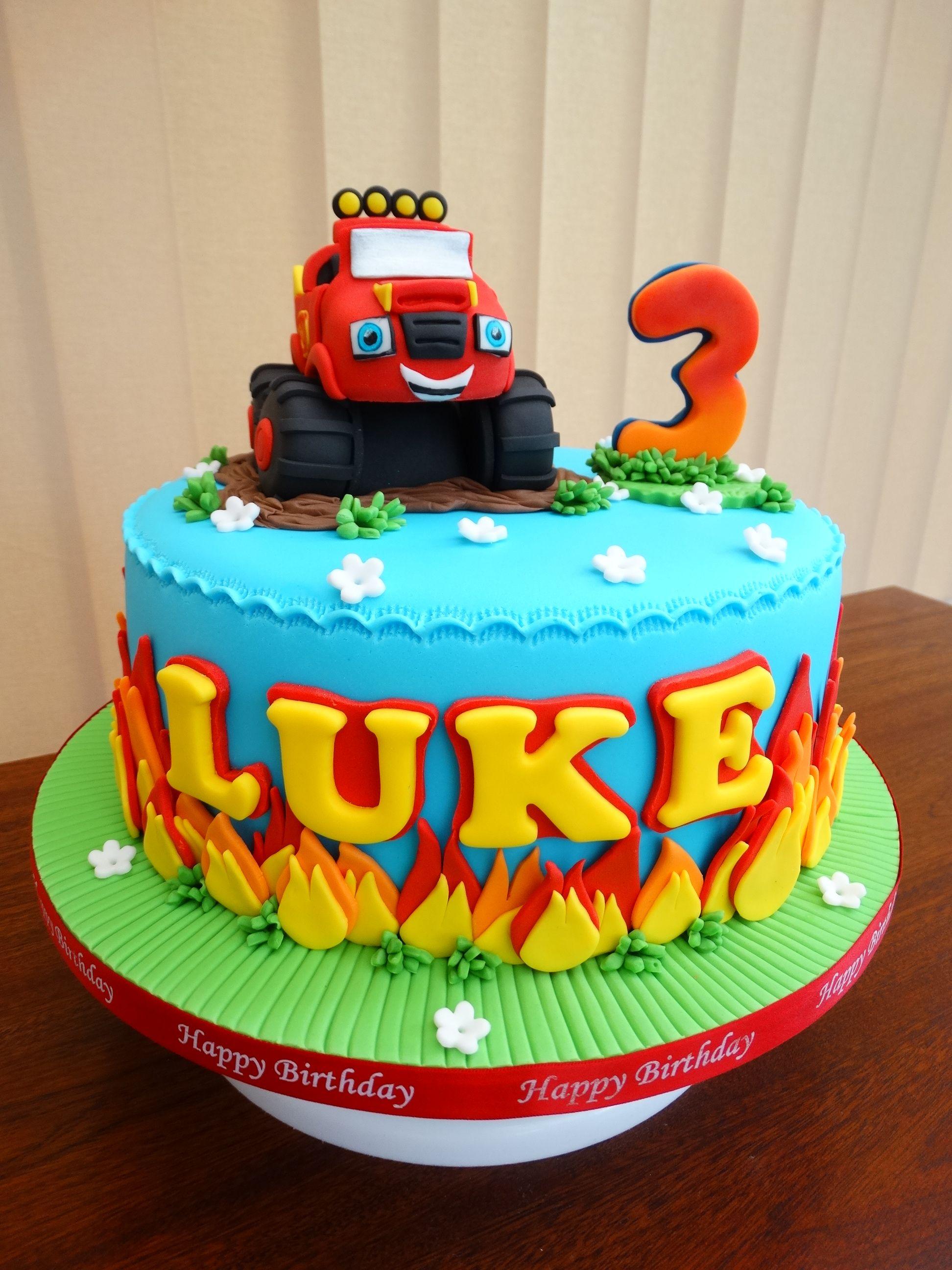 Blaze Monster Truck Cake Xmcx Truck Birthday Cakes Monster