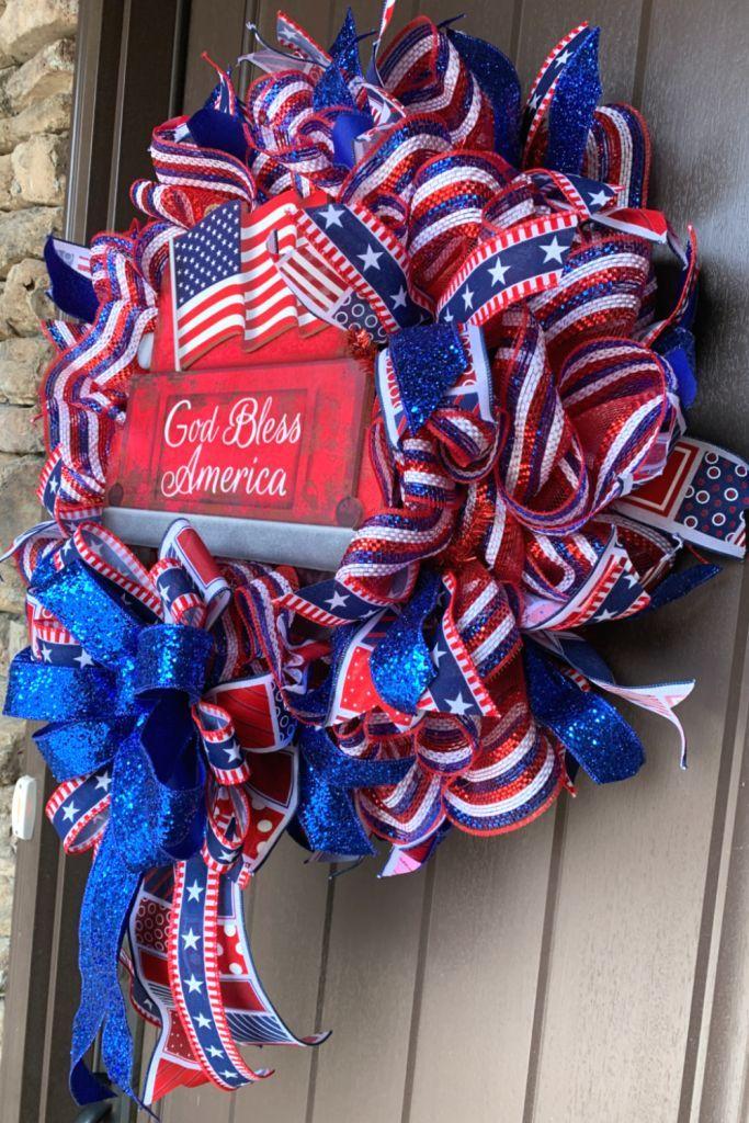 Photo of Patriotic wreath tutorial