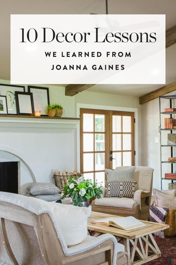 10 Decor Lessons We Learned from Joanna Gaines (None of Which Have to Do with Giant Clocks) #interiordesigntips