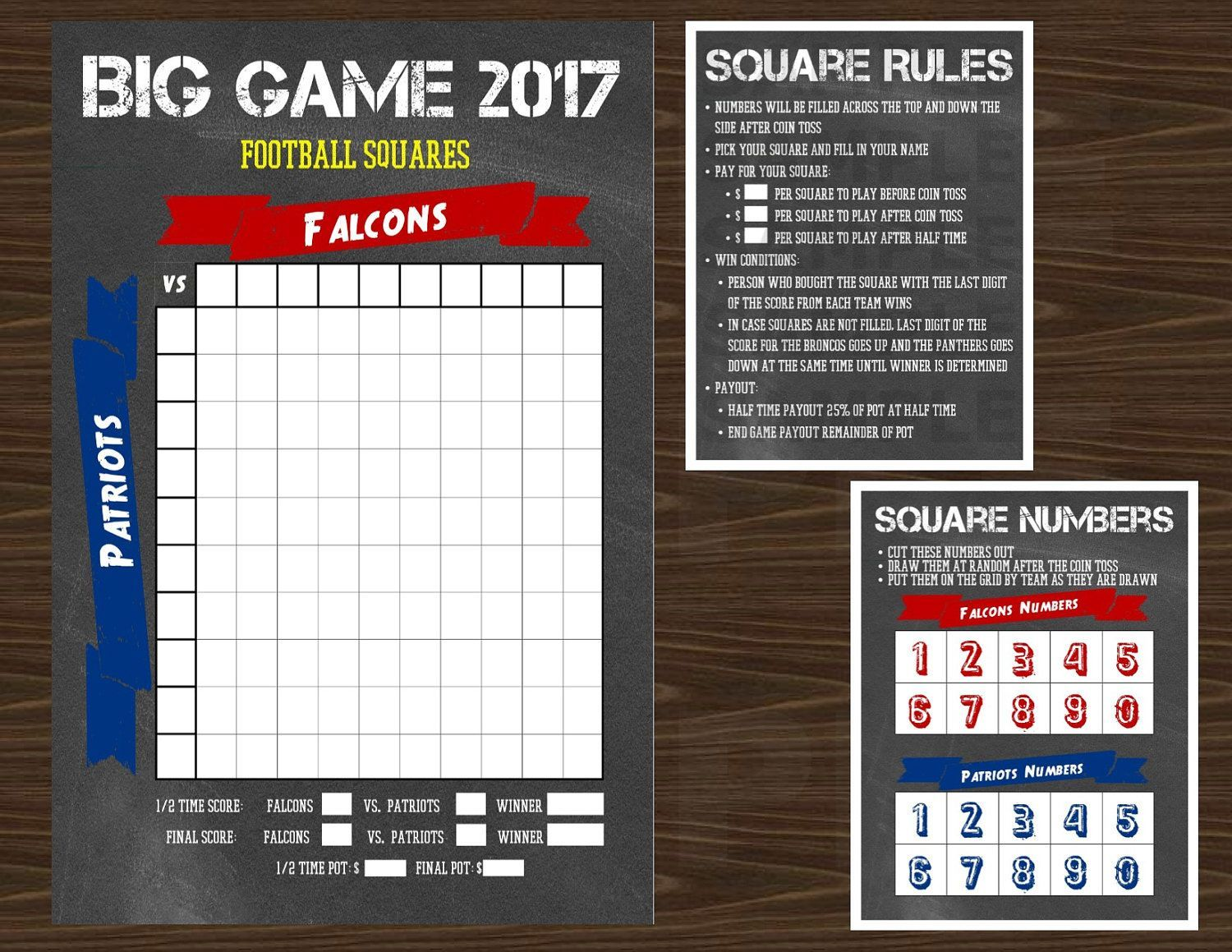 This item is unavailable The Big Game 2017 Football Grid