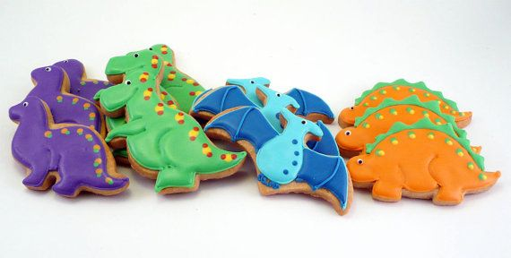 Decorated Cookies Dinosaurs by katieduran on Etsy