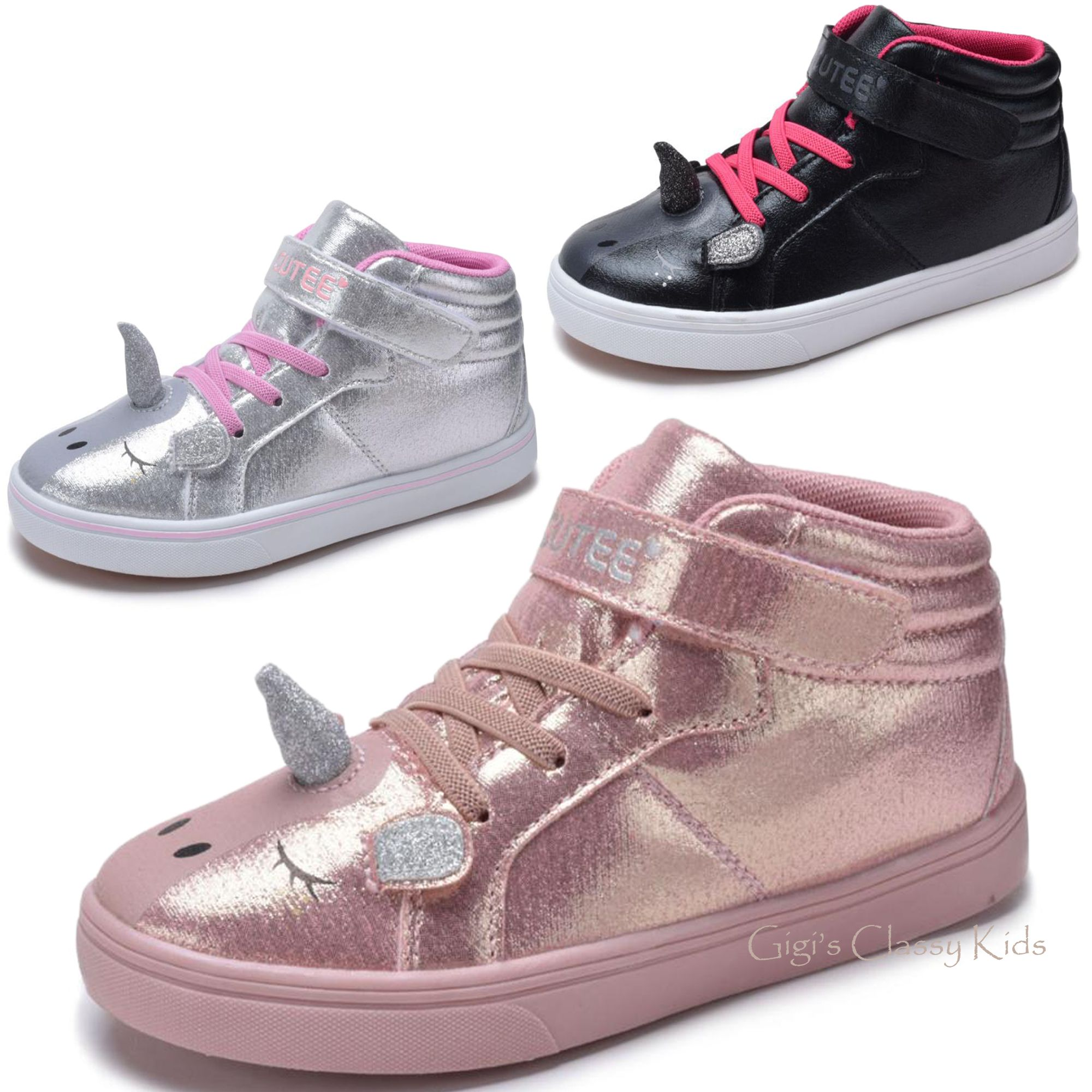 Unicorn Girls Sneakes Kid Shoes Tennis Shoes Sneakers High Top Sneakers