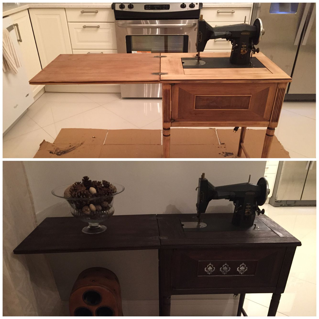 From Kenmore Sewing Machine To Buffet Table For My Dining Room