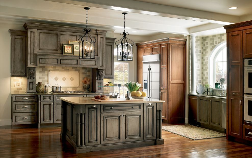 Devonshire Medallion cabinets in \'Appaloosa\' stain ...